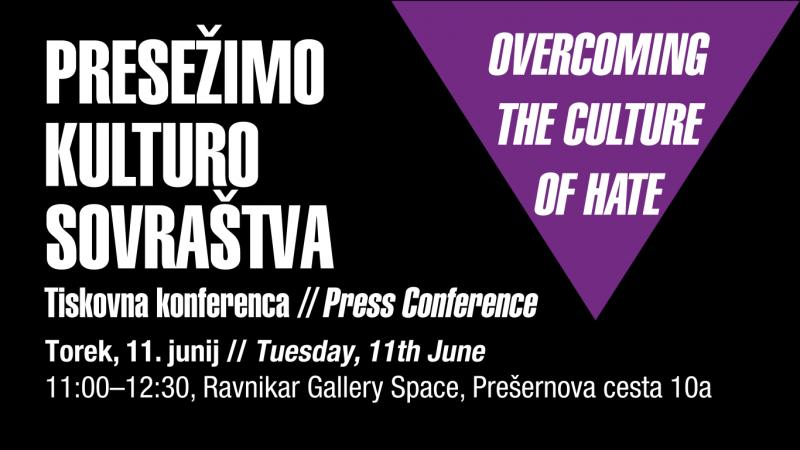 Presežimo kulturo sovraštva – tiskovna konferenca