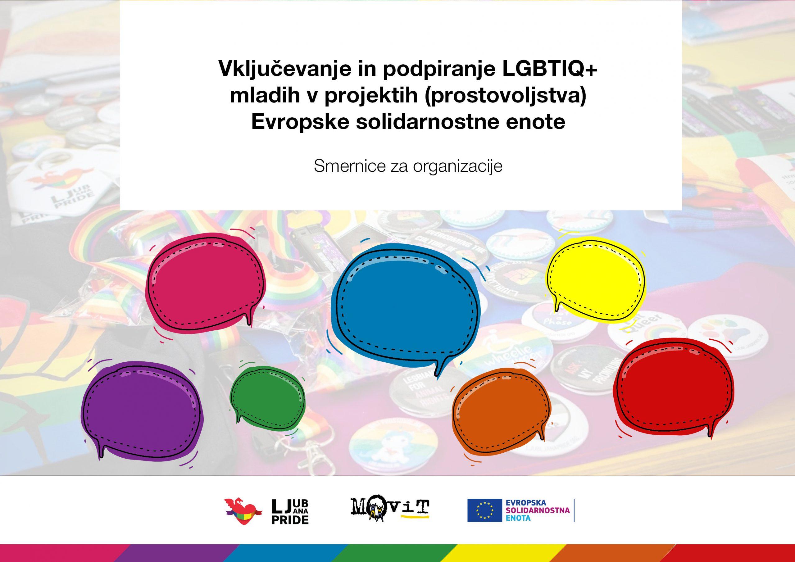 Vključevanje in podpiranje LGBTIQ+ mladih v projektih (prostovoljstva) Evropske solidarnostne enote