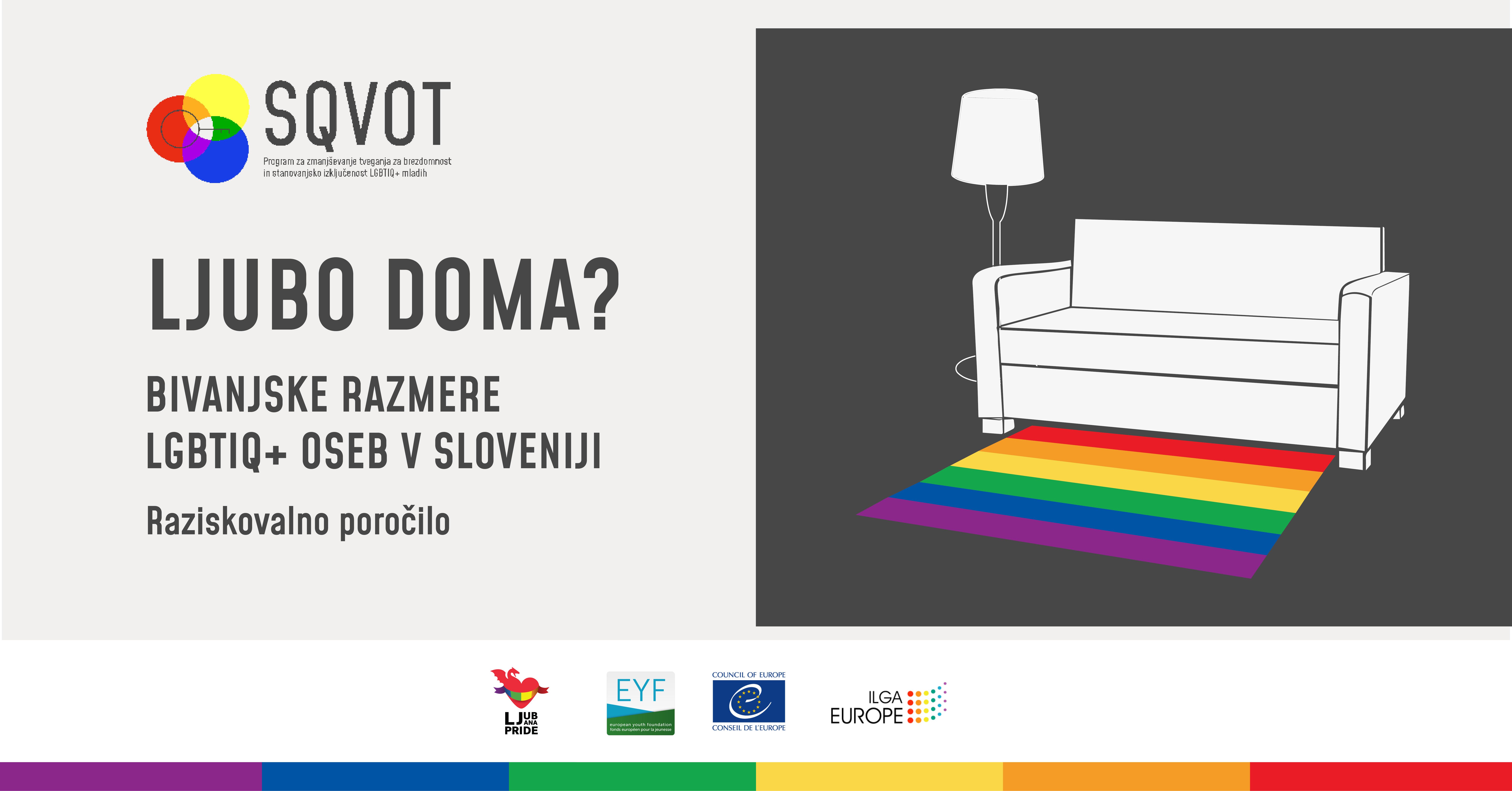 LJUBO DOMA? - Bivanjske razmereLGBTIQ+ oseb v Sloveniji
